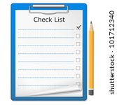 clipboard with checklist ...   Shutterstock .eps vector #101712340