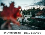 guy with the backpack in the... | Shutterstock . vector #1017126499