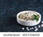 sea salt scented herb rosemary... | Shutterstock . vector #1017126610