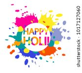 abstract colorful happy holi...   Shutterstock .eps vector #1017127060