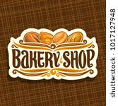 vector logo for bakery shop  on ... | Shutterstock .eps vector #1017127948