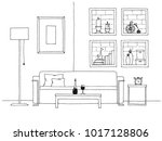 table in front of the sofa.... | Shutterstock .eps vector #1017128806