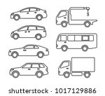 set of icons cars | Shutterstock .eps vector #1017129886