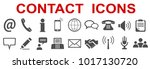 grey contact icons   for stock... | Shutterstock .eps vector #1017130720