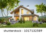 3d rendering of modern cozy... | Shutterstock . vector #1017132589