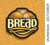 vector logo for bread  whole... | Shutterstock .eps vector #1017133819