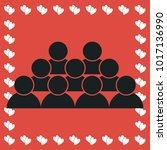 crowd of people icon flat....   Shutterstock . vector #1017136990