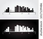 la paz skyline and landmarks... | Shutterstock .eps vector #1017139486