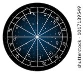 astrology zodiac with natal...   Shutterstock .eps vector #1017139549
