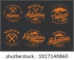 vintage vector of wilderness... | Shutterstock .eps vector #1017140860