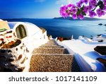 steep stone steps to the deep... | Shutterstock . vector #1017141109