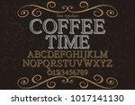 vintage font typeface... | Shutterstock .eps vector #1017141130
