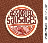 vector logo for sausage  round... | Shutterstock .eps vector #1017142204