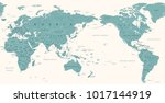 vintage political world map... | Shutterstock .eps vector #1017144919