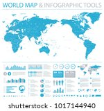 vintage political world map... | Shutterstock .eps vector #1017144940