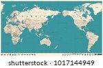 vintage political world map... | Shutterstock .eps vector #1017144949