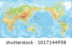 political physical topographic... | Shutterstock .eps vector #1017144958