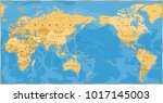 vintage political world map... | Shutterstock .eps vector #1017145003