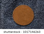 blank round circular leather... | Shutterstock . vector #1017146263