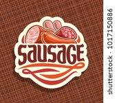 vector logo for sausage  cut... | Shutterstock .eps vector #1017150886