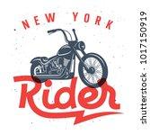 motorcycle t shirt graphics ... | Shutterstock .eps vector #1017150919