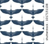 japanese seamless pattern with... | Shutterstock .eps vector #1017151108