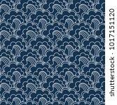 traditional oriental seamless... | Shutterstock .eps vector #1017151120