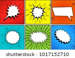 comic book background with... | Shutterstock .eps vector #1017152710