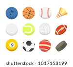 cartoon colorful ball set.... | Shutterstock . vector #1017153199