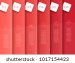 vector 3d red vertical text... | Shutterstock .eps vector #1017154423