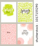 set of card templates   spring... | Shutterstock .eps vector #1017155290