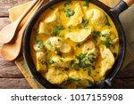 spicy chicken in a sauce of... | Shutterstock . vector #1017155908