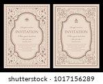 invitation card design  ... | Shutterstock .eps vector #1017156289