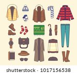 big set of stylish winter... | Shutterstock . vector #1017156538