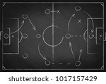 soccer tactic scheme on... | Shutterstock .eps vector #1017157429