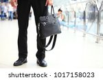 a young handsome businessman in ... | Shutterstock . vector #1017158023