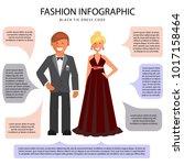 black tie dress code... | Shutterstock .eps vector #1017158464