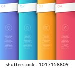 vector 3d colorful vertical... | Shutterstock .eps vector #1017158809