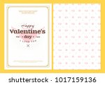 happy valentines day typography ... | Shutterstock .eps vector #1017159136