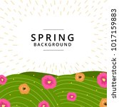 spring summer background... | Shutterstock .eps vector #1017159883