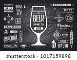 poster or banner with text beer ... | Shutterstock .eps vector #1017159898
