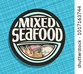 vector logo for seafood  boiled ... | Shutterstock .eps vector #1017163744