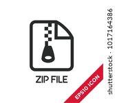 zip file icon. modern ui vector