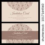 invitation card design  ... | Shutterstock .eps vector #1017164560