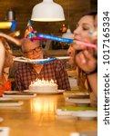 big family celebrate the...   Shutterstock . vector #1017165334