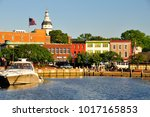 annapolis harbor in historic... | Shutterstock . vector #1017165853