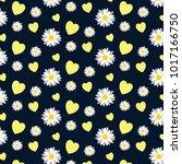 daisy background pattern   Shutterstock .eps vector #1017166750