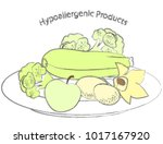 the image of a plate on which...   Shutterstock .eps vector #1017167920