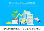 the tax form banner.... | Shutterstock .eps vector #1017169750