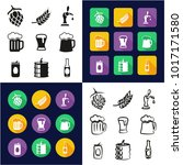 beer all in one icons black  ... | Shutterstock .eps vector #1017171580